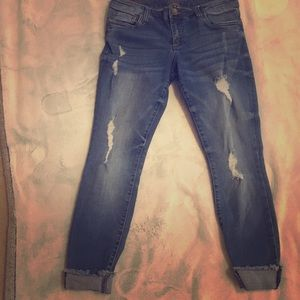 KUT Distressed jeans